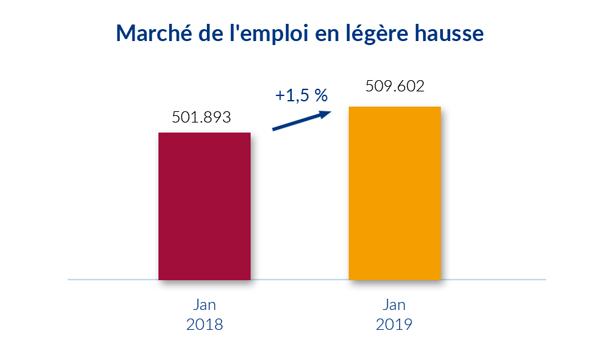 Marché de l'emploi Janvier 2019